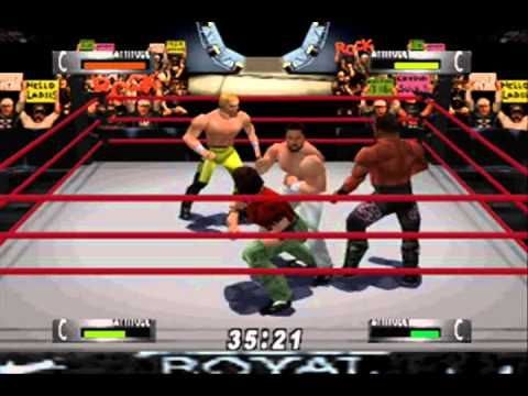 ▶ WWF WrestleMania 2000 (N64) - Royal Rumble - YouTube