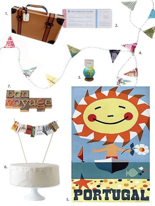 Party inspiration decorating ideas for a bon voyage bon for Sejour design decoration