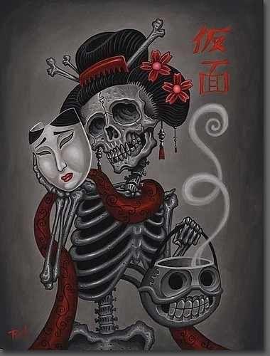 Dia De Los Muertos Skull Art ☮~ღ~*~*✿⊱ レ o √ 乇 !! ~