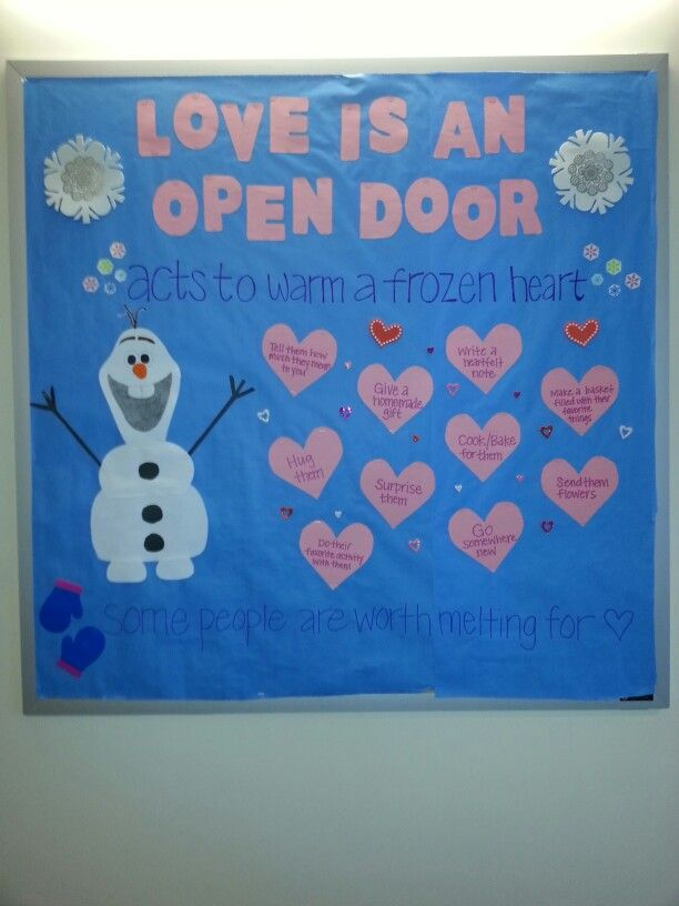 Frozen February RA Bulletin Board