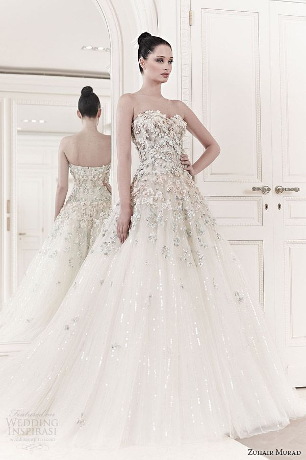 zuhair-murad-2014-princess-wedding-dresses-tiana-strapless-sweetheart-floral-applique-wedding-gown.jpg (600×900)