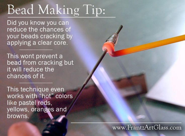 Bead Making Tip: A Solution for Cracking Encasement