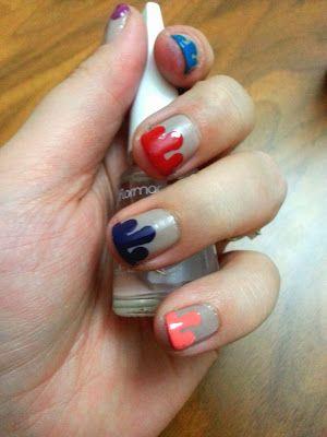 tutkunun güncesi: damlayan oje (dripping paint nail art)
