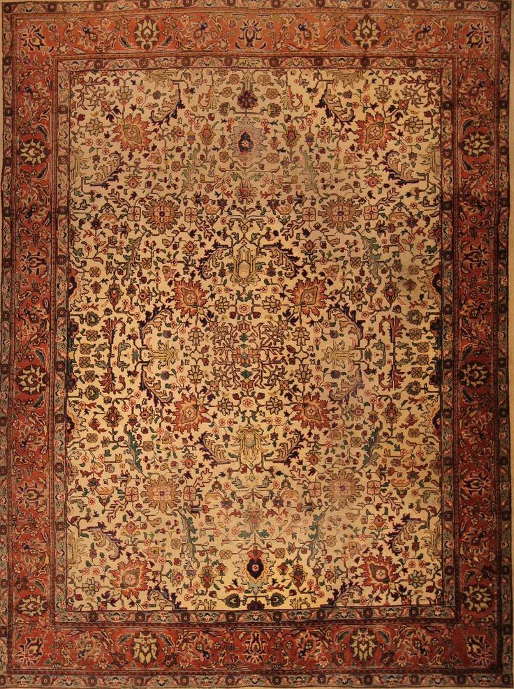 €990 online Mollaian, Tabriz 30R d'epoca pesia 400x295 tappeto persiano tabriz 30R degli anni 30-40 di grande dimesione formato 400x300