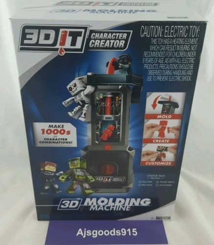 3DIT Character Creator Molding Machine w/ 5 Refill Pack