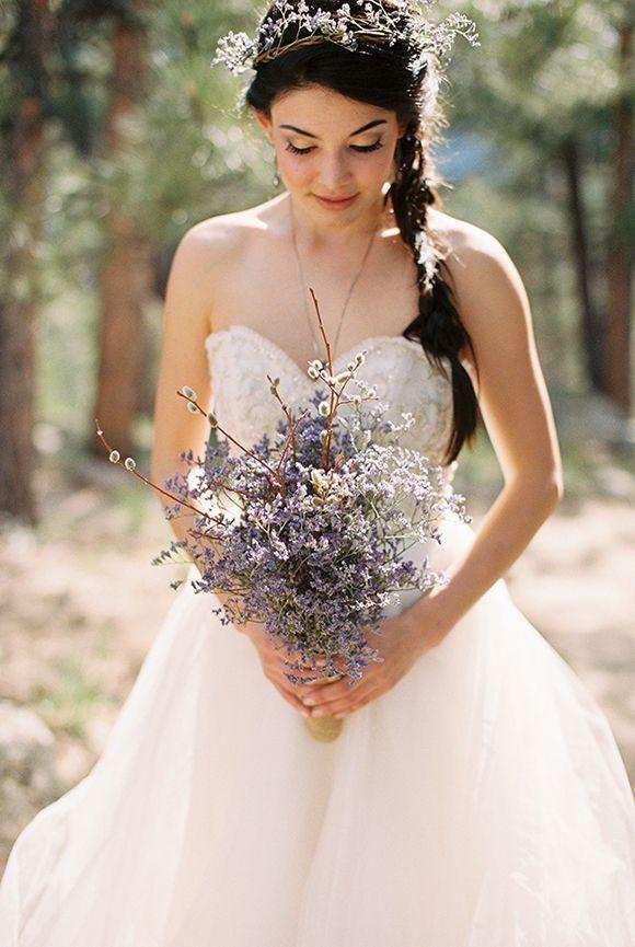 Whimsical Woodland #Wedding Bouquet via Wedding Sparrow blog http://weddingsparrow.co.uk/2014/07/10/deep-roots-styled-shoot/