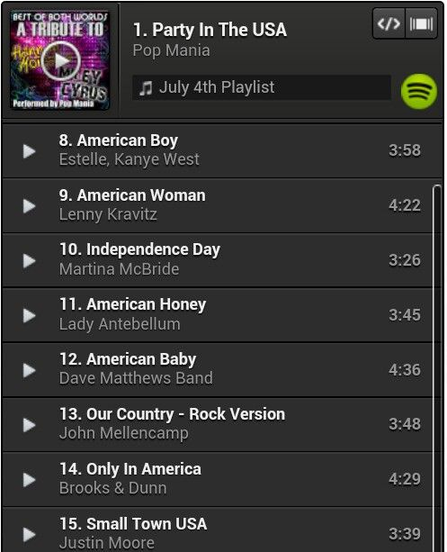 4th of July playlist continued