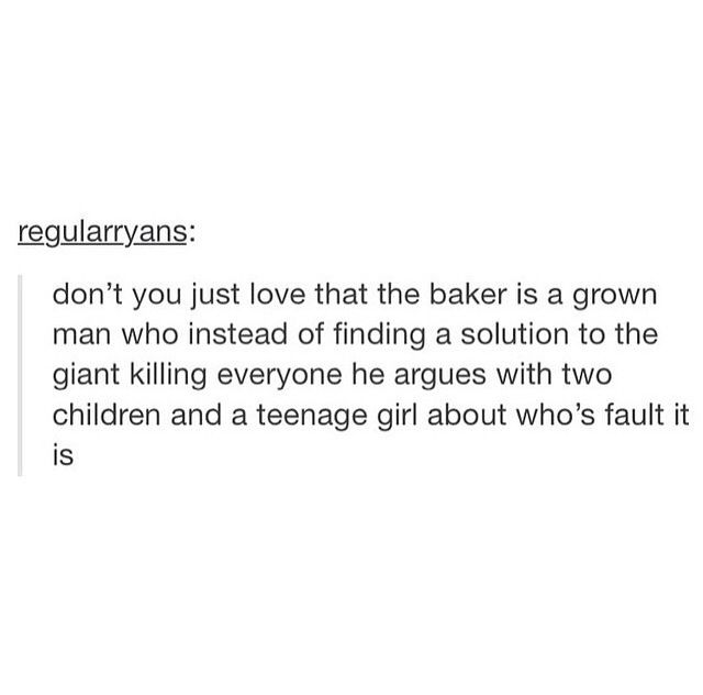 Gotta love the baker. If he knew anything about children, he'd know not to argue with them.