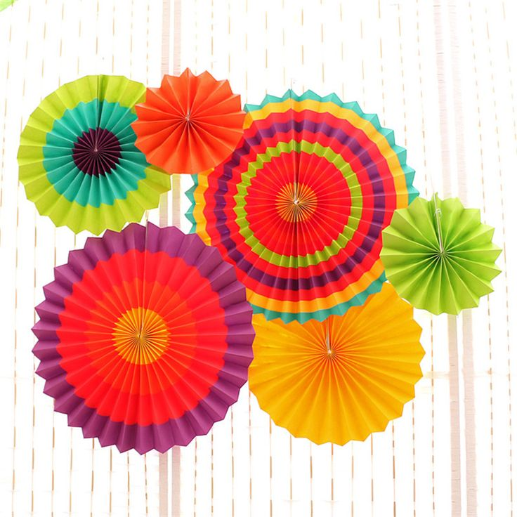 6pcs/set Tissue Paper Fan Craft Party Event Decoration Hanging Tissue Paper Flower Fans Favor Outdoor Wedding Party suppliers #Affiliate