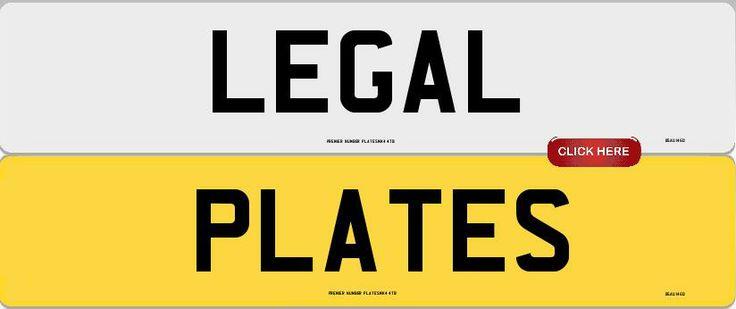 Legal Number Plates  www.Premier-Number-Plate.co.uk