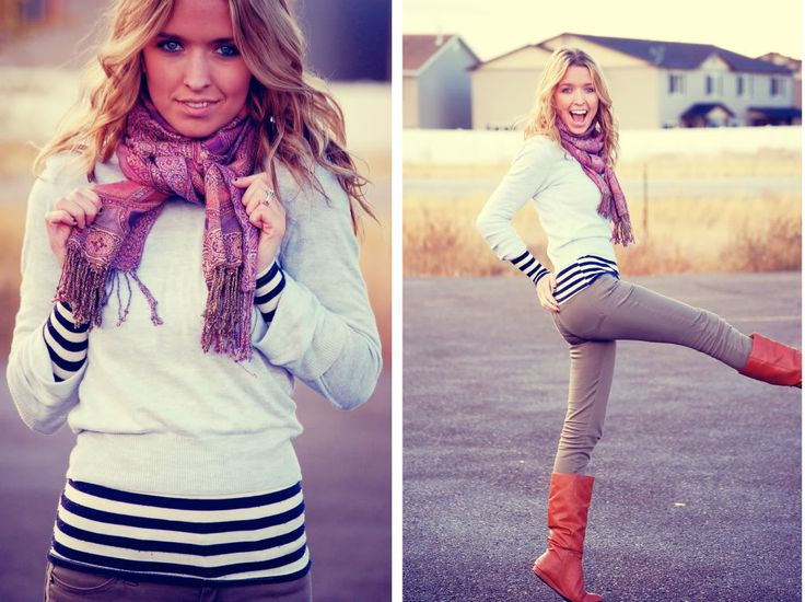 Super cuteFall Clothing, Striped Shirts, Fall Style, Red Boots, Stripes Shirts, Fall Fashion, Fall Outfit, Brown Boots, Cute Outfit