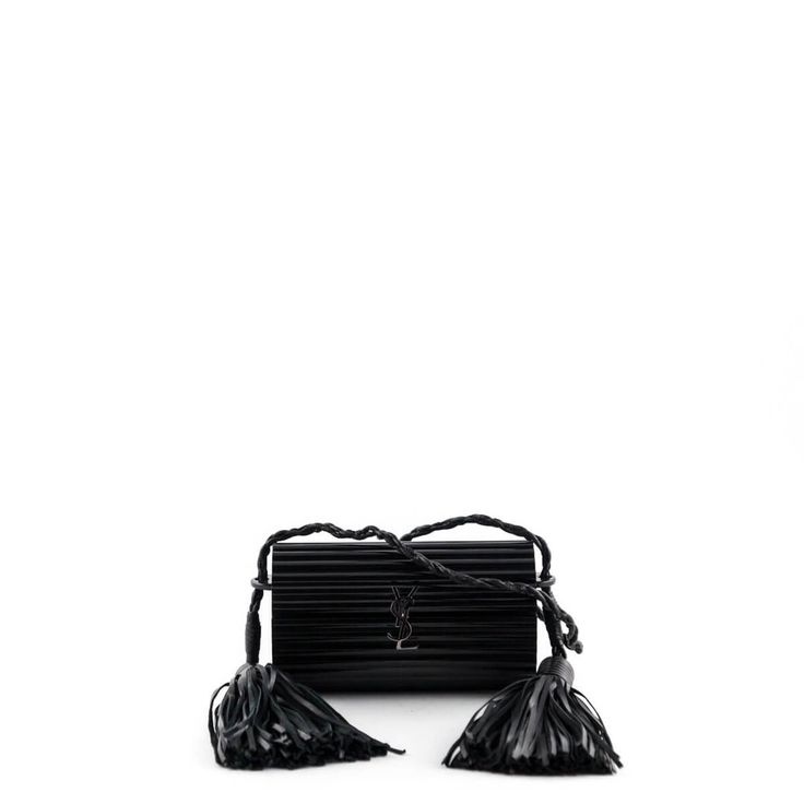Saint Laurent Black Glossy Plexiglass Opium Box Bag - $1600 CAD