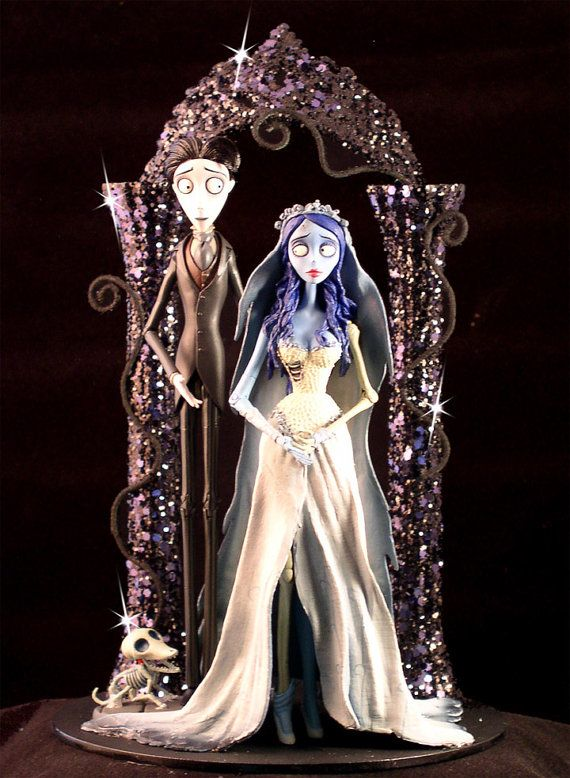 Corpse Bride Wedding Cake Topper Tim Burton Lighted Halloween Wedding Ca