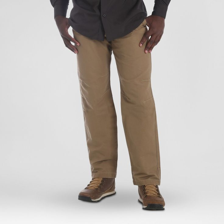 Wrangler Men's Outdoor Coated Cotton Utility Pants - Fawn 29x30