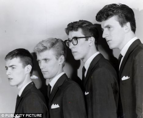 The Shadows lineup in 1963: Tony Meehan, who died in 2005, Jet Harris, Hank Marvin and Bruce Welch