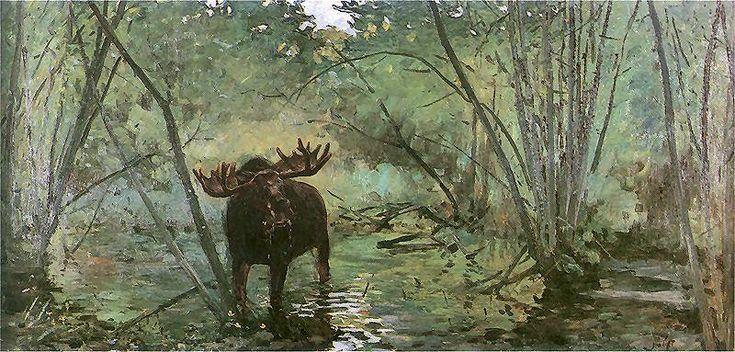 Julian Fałat - Łoś, 1899