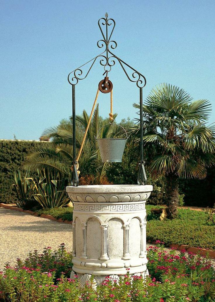 Pozos decorativos para jard n for Muebles de forja para jardin