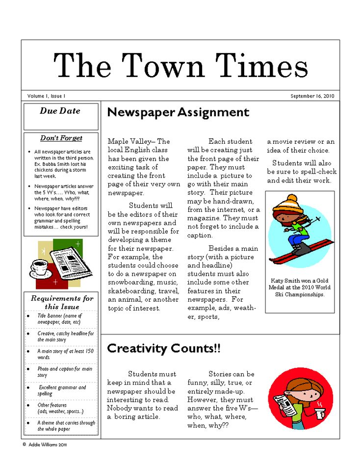 15 best Homeschool Cover Story Writing images on Pinterest - newspaper headline template