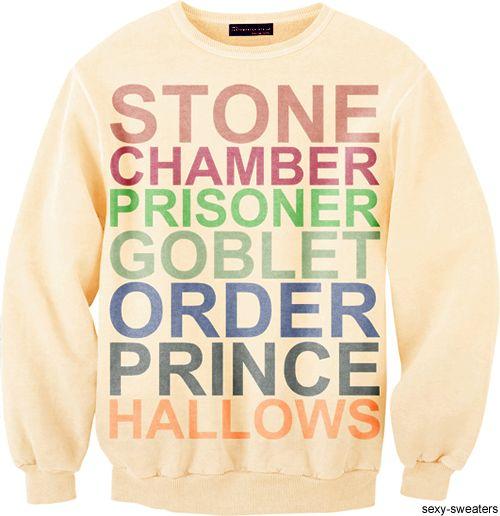 potter.: Sexy Sweaters, Harry Potter Sweatshirts, Clothing, Harry Potter Love, Wish Lists, Harry Potter Sweaters, Closet, T Shirts, Christmas Gifts