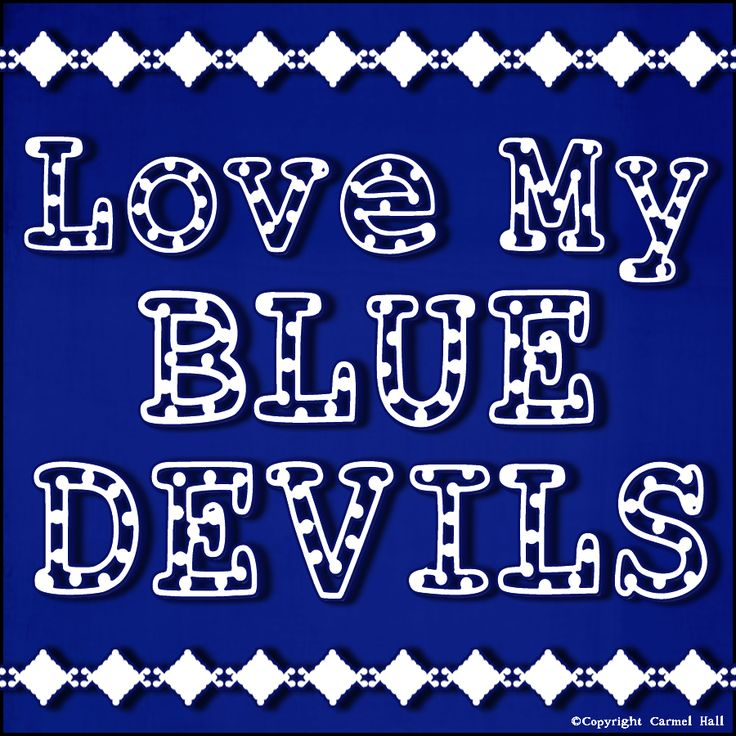 Love My Blue Devils By Carmel Hall