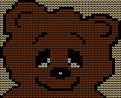 Teddy Bear Face Knitting Chart