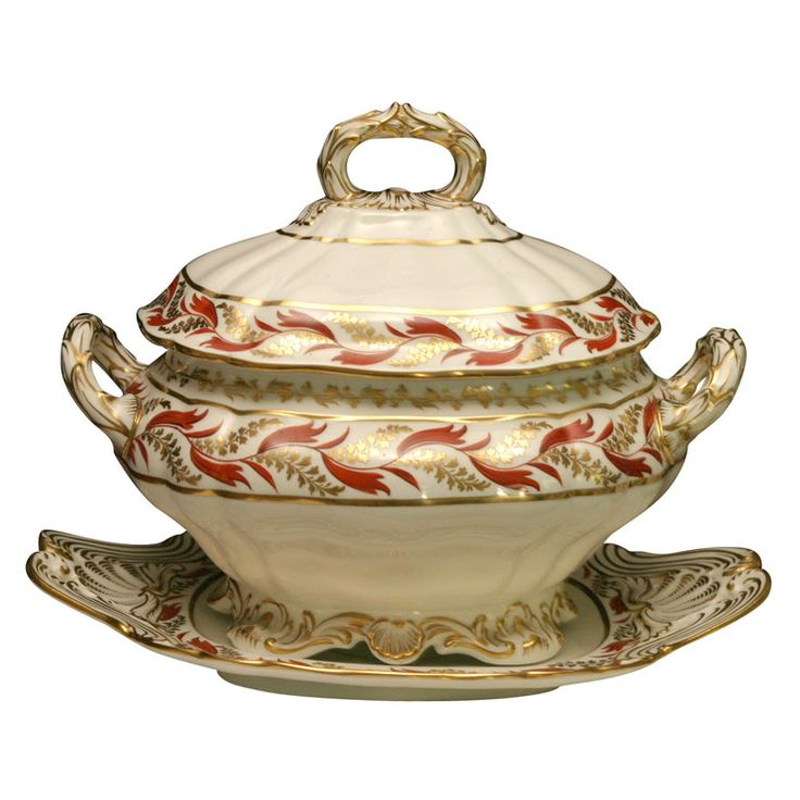 Spode Soup Tureen with Under Plate | From a unique collection of antique and modern tureens at https://www.1stdibs.com/furniture/dining-entertaining/tureens/
