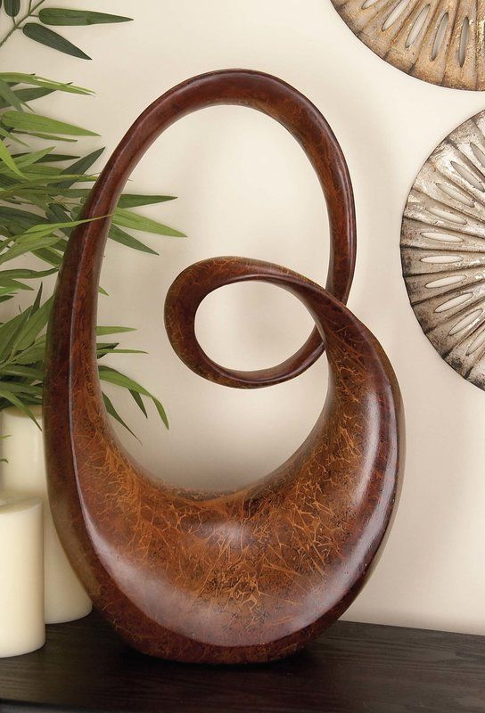 Cole & Grey Urban Trends Small Abstract Sculpture & Reviews   Wayfair