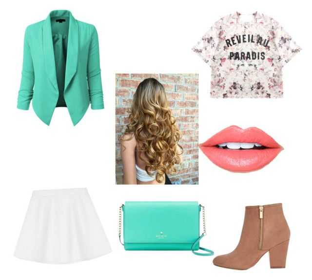 """""""#fasion"""" by samantha2nazaret on Polyvore featuring Momewear, RED Valentino, LE3NO, River Island, Kate Spade and Fiebiger"""