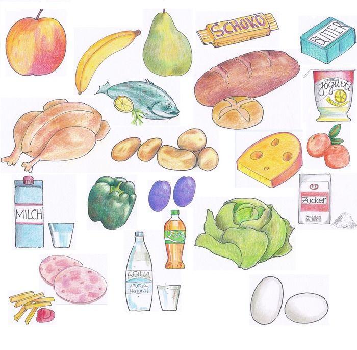 """22 #Bilddateien, die unsere menschliche #Ernährung darstellen. Gut verwendbar für die Erklärung der empfohlenen """"Nahrungspyramide"""", für Kochunterweisungen oder #Hauswirtschaftsunterricht. Ebenso für Arbeitsblätter mit ersten Rechenübungen, sowie zur #Illustration im #Sachkundeunterricht.  22 Bilddateien im png-Format."""