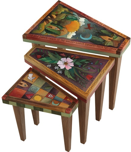 love the shape of these nesting tables