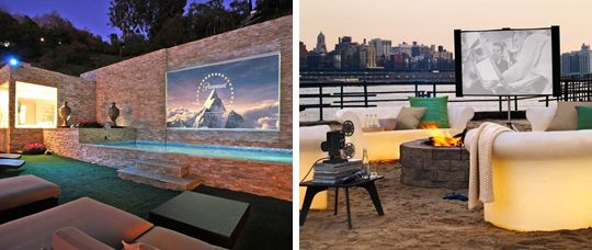 via pinterest outdoor projector tvs and movies
