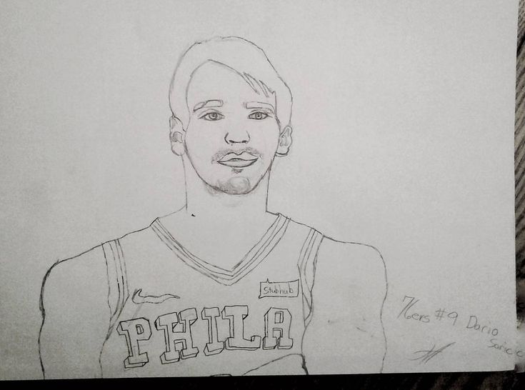 My 11 year old son drew this picture of Dario Saric. He loves the Sixers and basketball! @megalodon20 @sixers @christiancrosby  #art #drawing #sketch #pencil #graphite #paper #wip #philly #philadelphia #phillyart #artist #doodle #basketball #game #sixers #76ers #baller #ball #sports #nba #team #jersey #son #like #espn