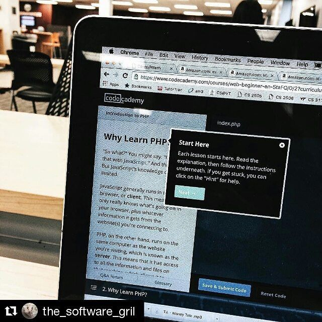 #Repost @the_software_gril with @repostapp  Learning PHP to get ready to learn iOS mobile app development. C is next #macBook #software #programmer #programming #coding #computerscience #php #linux #unix #hack #mac #code #sublime #webdeveloper #webdevelopment #webdesign #webdesigner #java #javascript #programmerlife #developer #worldofprogrammers #worldofcode #apple #codinglife #mobile #mobileapp #html #css by codeismylife