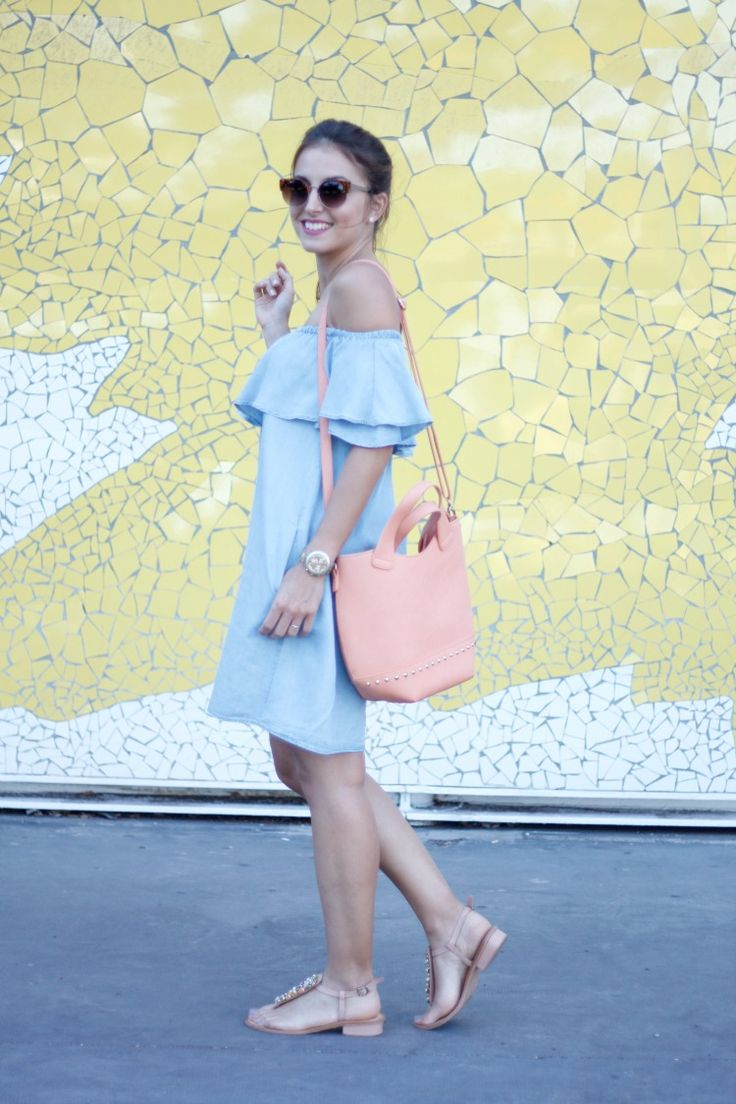 off the shoulders, hombros, hombros al descuvierto, vestido, vestido azul, dress, summer, zara, sandalias,
