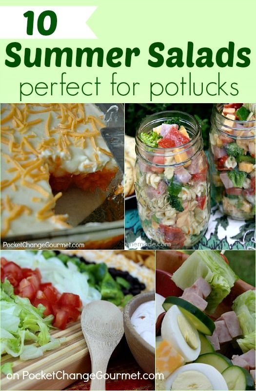 10 Summer Salads: Perfect for Potlucks :: on PocketChangeGourmet.com