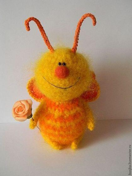 Игрушки животные, ручной работы. Ярмарка Мастеров - ручная работа. Купить Вязаная игрушка Бабочка оранжевая. Handmade. Оранжевый, летний