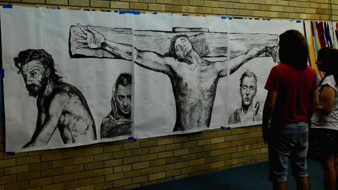 exhibiting three full size sketches (1.4m square)