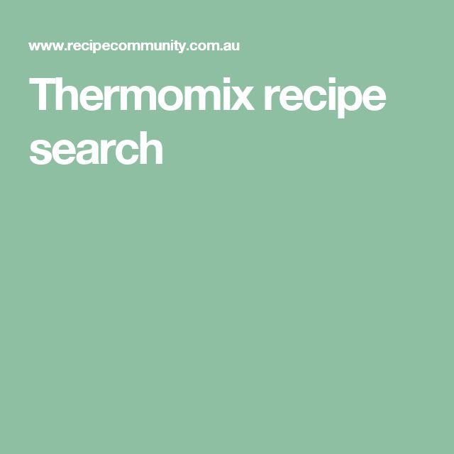 Thermomix recipe search