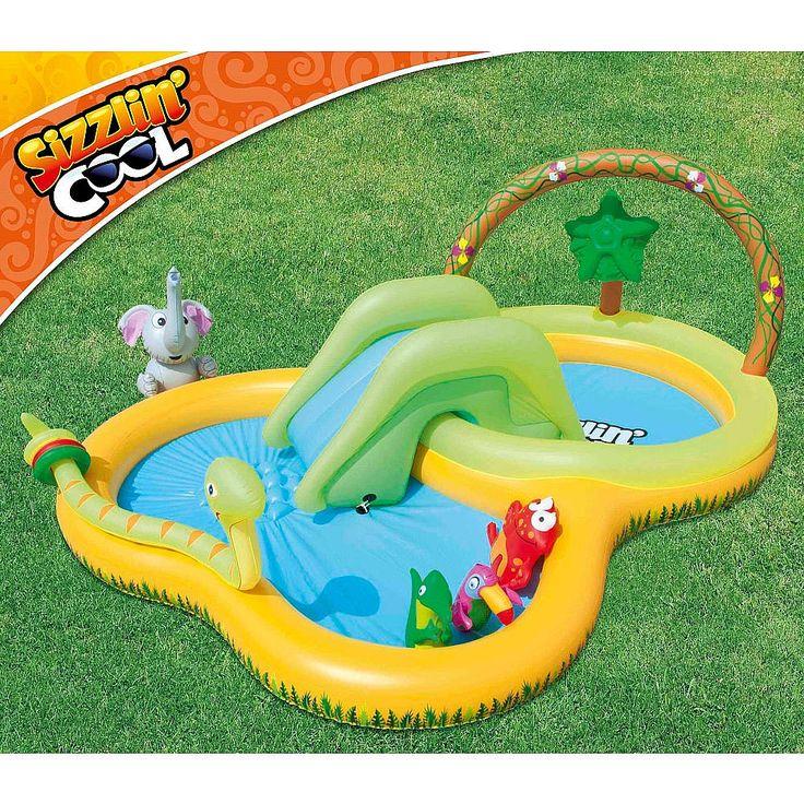 Piscina sizzlin cool a selva com escorrega est personalizada com o tema da selva e inclui - Piscina toys r us ...