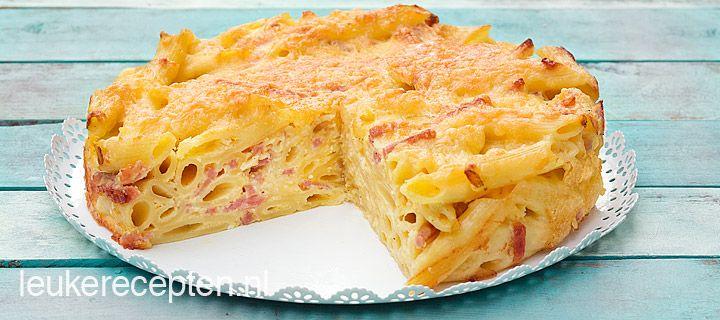 Lekkere simpele pastaschotel met penne, ham en kaas geïnspireerd op de ham and cheese mac...HOOFDGERECHT – 25 MIN + 30 OVENTIJD – 4 PERSONEN *
