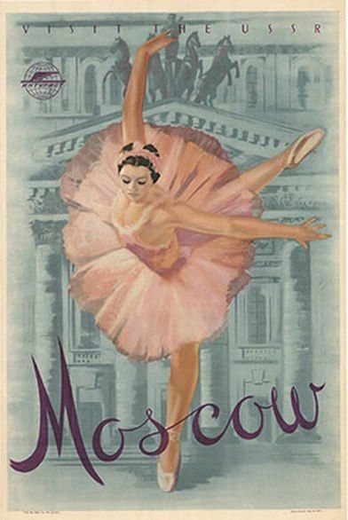 Vintage travel poster for Moscow, Russia. If only I could find where to buy it! It would go perfectly with my collection.