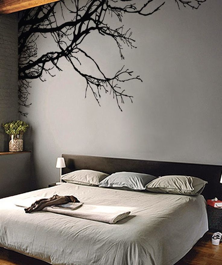 50 budget friendly bedroom ideas: Tree Top Branches decal sticker