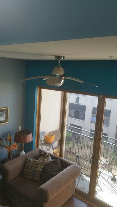 Painted my loft with Sherwin Williams Steely Gray with turquoise (Splashy) as the accent color. Love the results.