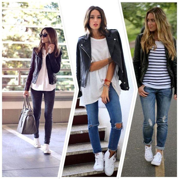 premium selection 60de5 86491 23 looks inspiradores con zapatillas blancas, ¿te apuntas    outfits  variados    Pinterest   Cool outfits, White sneakers outfit y Fashion  outfits