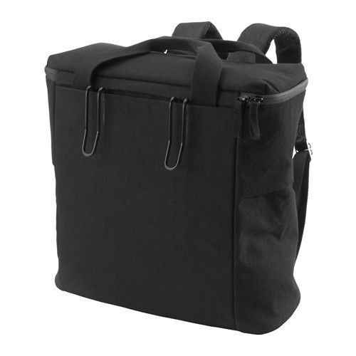 IKEA - SLADDA, 自転車用バッグ 後ろ, この自転車バッグはバッグパックになりますバッグの主要な素材には防水加工を施しています。底の部分は撥水加工です