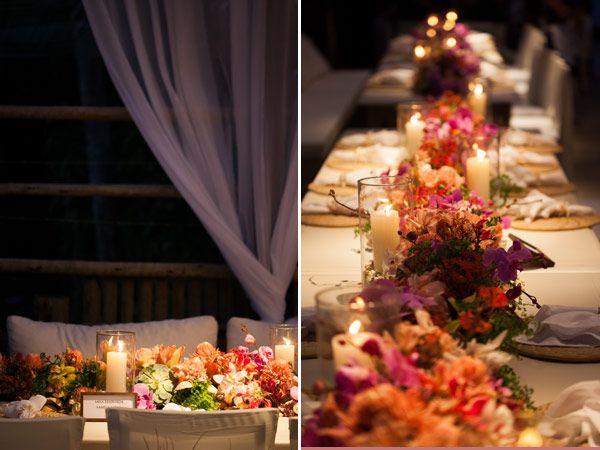 Mesa italiana para ter todos os convidados pertinho dos noivos, como a proposta do Best Friend Wedding