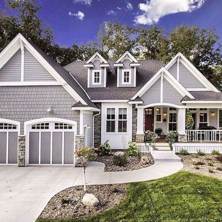 Modern Homeexterior Design Ideas: 44+ Stunning Farmhouse Home Exterior Design Ideas