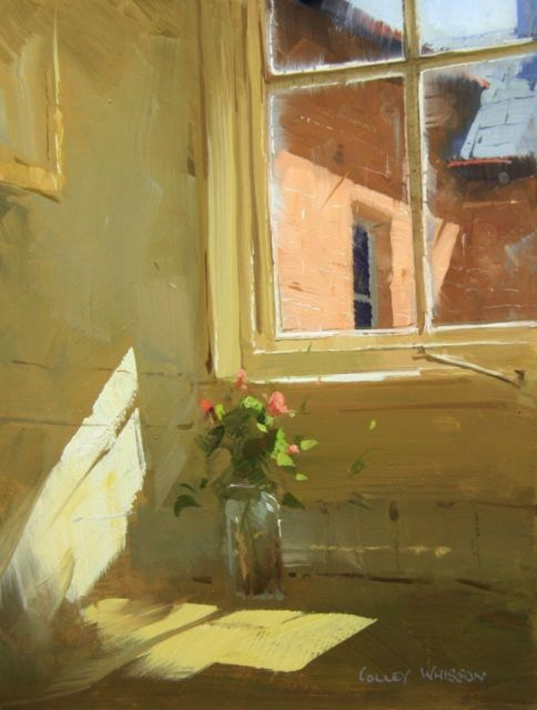A March Moment - QLD 10''x07'' Colley Whisson. Love the use of light and the smears on the window, very well done.