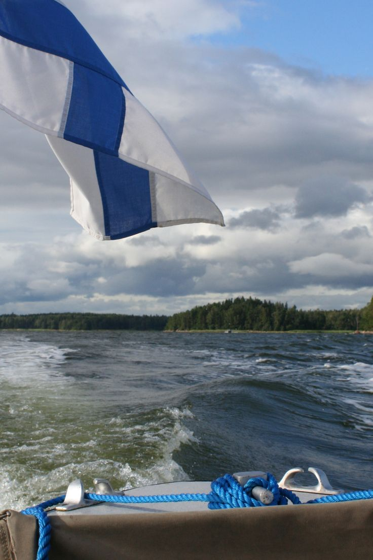 Blue and white, the colours of Finland.