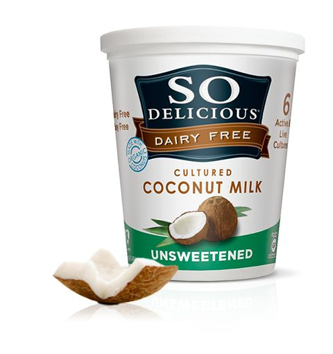 Unsweetened Coconut Milk Yogurt - Add chia sees, fruit & cacao nubs or use plain as a sour cream substitute
